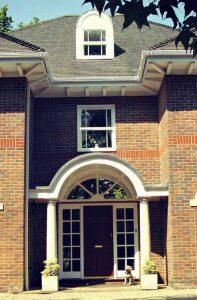 Small uPVC sash windows in white