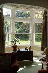 Internal view of vertical sliding sash windows