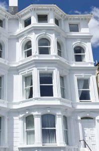 Arched sash windows installation
