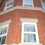 White New Build Sash Window Installation