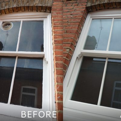 Replacement Timber Sash Windows (before & after)