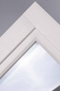 Ultimate Rose uPVC sash with mechanical joint to look like timber