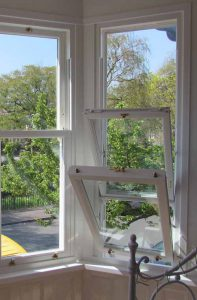 Tilting uPVC sash windows