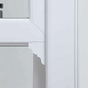 a close up of a sash window clip on horn