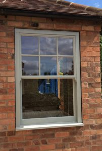 Quality grey sliding sash window