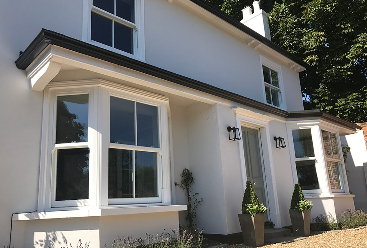 Millwater cottage exterior with victorian sliders