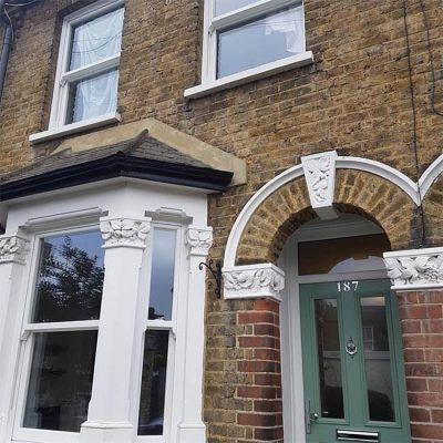 Victorian house with traditional sliding sash windows