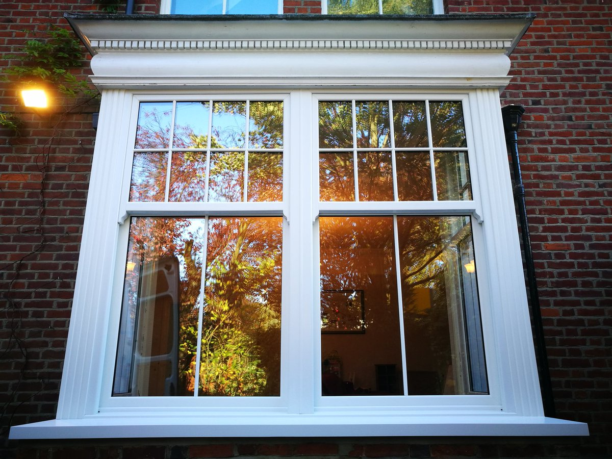 White charisma rose sash windows