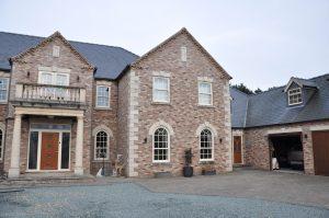 Charisma rose sash upvc windows on bespoke house