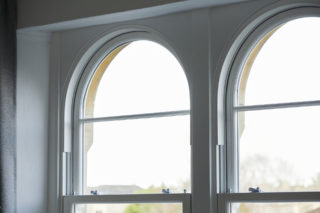 white ultimate Roseview Windows, arches