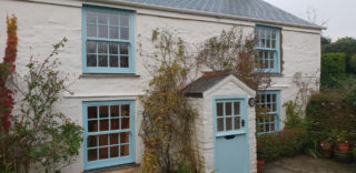 blue heritage Roseview Windows, bespoke colour