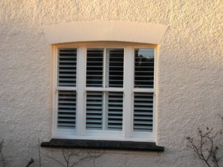 white ultimate Roseview Windows, arches, bespoke, slim mullion