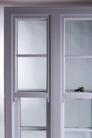 white ultimate Roseview Windows, slim mullion, studio shot