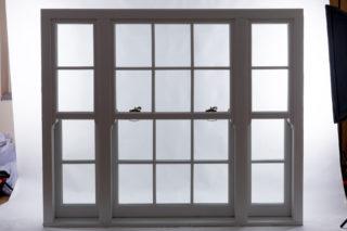 white  Roseview Windows, slim mullion, studio shot