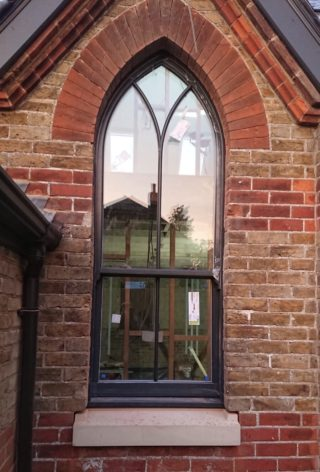 anthracite grey ultimate Roseview Windows, arches, bespoke, gothic, refurb, bespoke colour