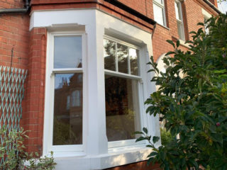 white ultimate Roseview Windows, bay