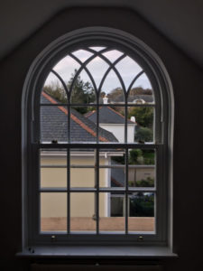 white ultimate Roseview Windows, arch, gothic
